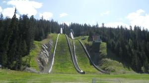 The Olympic ski jumps.