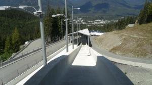 The start for the men's luge