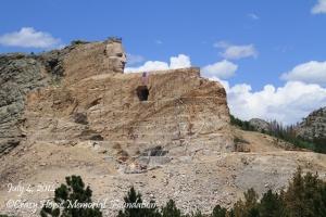Crazy Horse Memorial as of July 4, 2014. Photo courtesy of Crazy Horse Memorial