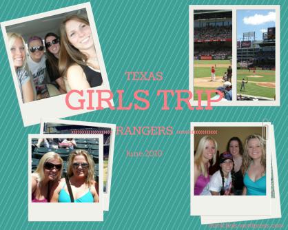 Girls Trip - Texas Rangers Game