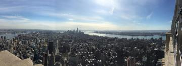 Empire State Building looking towards lower Manhattan from the 86th floor