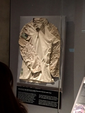 Shirt worn by Navy SEAL who shot Osama Bin Laden: Photo taken by me