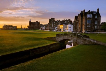 Swilcan Bridge Old Course Photo taken from www.luxetravel.com