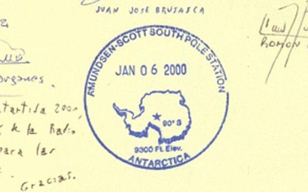 Passport stamp of the South Pole